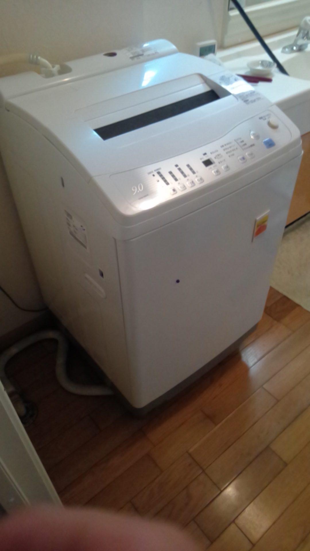 洗濯機を分解してお掃除!